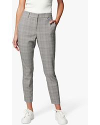Forever New Grace Check Crop Trousers - Grey