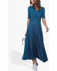 Jolie Moi Abstract Geometric Dress - Blue