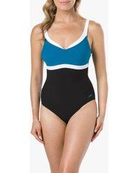 f4c47a5307d Speedo Sculpture Contourluxe One Piece Swimsuit in Blue - Lyst