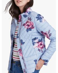 Joules - Elodie Floral Print Quilted Jacket - Lyst