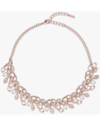 Ted Baker - Wisteria Leaf Collar Necklace - Lyst
