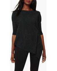 Phase Eight Ally Fleck Yarn Knitted Jumper - Black