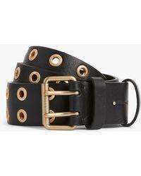 AllSaints Abigail Leather Belt - Black
