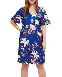 Studio 8 Priscilla Floral Dress - Blue