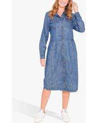Brakeburn Denim Shirt Dress - Blue