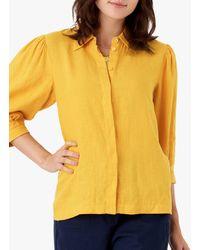 Brora Puff Sleeve Blouse - Yellow