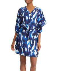 Ralph Lauren - Lauren Kessela Waterfall Sleeve Abstract Print Shift Dress - Lyst