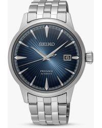 Seiko Srpb41j1 Presage Automatic Date Bracelet Strap Watch - Blue