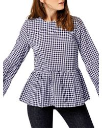 Warehouse - Gingham Tiered Top - Lyst