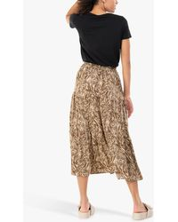Jolie Moi Sara Animal Print Midi Skirt - Natural