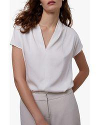 Winser London Silk V-neck Blouse - White