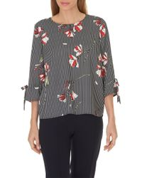 Betty & Co. Floral Blouse - Blue