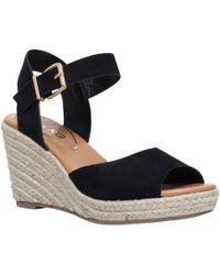 Miss Kg | Paisley Wedge Heeled Sandal | Lyst