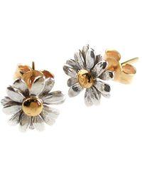 Alex Monroe - Classic Daisy Stud Earrings - Lyst
