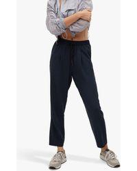 Mango Drawstring Flowy Trousers - Blue