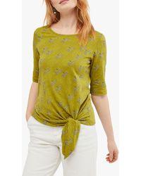 White Stuff Mint Tie Hem T-shirt - Green