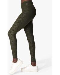 Sweaty Betty All Day Emboss Gym Leggings - Green