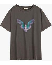 Hush Eagle Graphic Boyfriend Fit T-shirt - Black