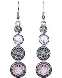 Karen Millen - Swarovski Teardrop Earrings - Lyst