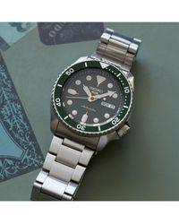 Seiko 5 Sports Automatic Day Date Bracelet Strap Watch - Metallic