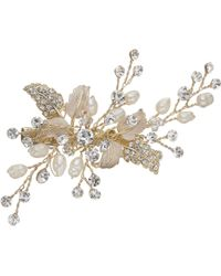 Ivory & Co. - Honeyblossom Crystal And Freshwater Pearl Hair Slide - Lyst