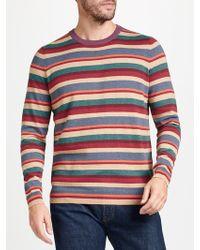 John Lewis | Cotton Cashmere Multi Stripe Jumper | Lyst