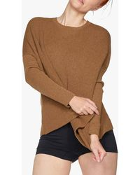 Thought Kate Organic Cotton Wool Blend Jumper - Brown