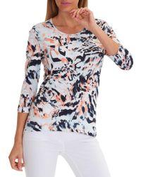 Betty Barclay Graphic Print T-shirt - Blue
