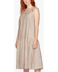 Thought Isobel Trapeze Stripe Dress - Brown