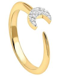 Missoma - 18ct Gold Vermeil Eclipse Pave Moon Ring - Lyst