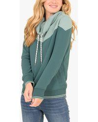 Brakeburn Colour Block Sweatshirt - Green