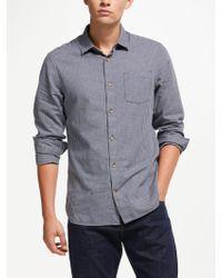 John Lewis - Long Sleeve Micro Check Shirt - Lyst