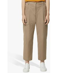 French Connection - Sia Pleat Front Cotton Trousers - Lyst