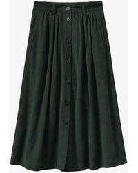 Toast Needlecord Button Front Skirt - Multicolour