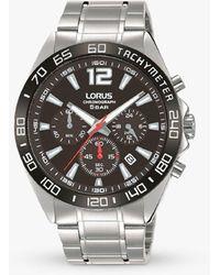 Lorus Rt335jx9 Chronograph Date Bracelet Strap Watch - Metallic