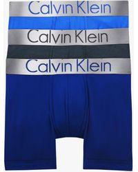 Calvin Klein Steel Cotton Trunks - Blue
