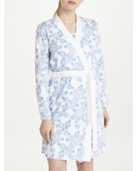 John Lewis - Melissa Floral Print Cotton Jersey Dressing Gown - Lyst