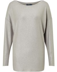 Pink Pony Polo Long Sleeve Jersey Top - Gray