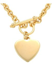 Ib&b - Chunky Chain Heart Necklace - Lyst