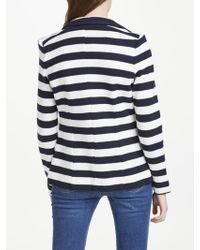John Lewis - Oui Stripe Cotton Blazer - Lyst