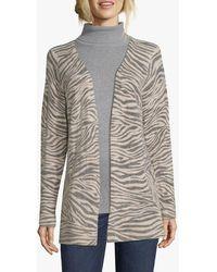 Betty & Co. Zebra Knit Cardigan - Grey