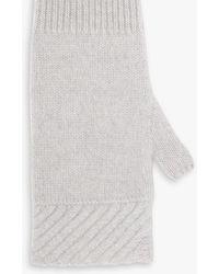 Jigsaw Cashmere Long Mittens - Grey