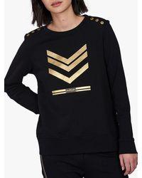 Barbour International Lightning Chevron Sweatshirt - Black