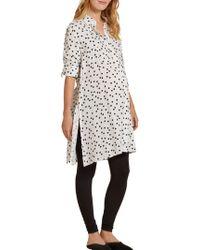 Isabella Oliver - Freida Polka Dot Maternity Shirt Dress - Lyst