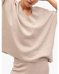 Mango Oversized Fine Knit Cotton Jumper - Natural