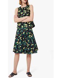 Hobbs Melina Floral Knee Length Skirt - Blue