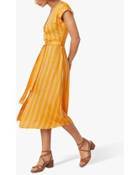 Oasis Stripe Button Dress - Yellow