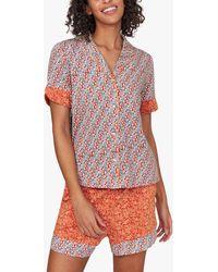 White Stuff Rosehip Print Jersey Pyjama Top - Multicolour