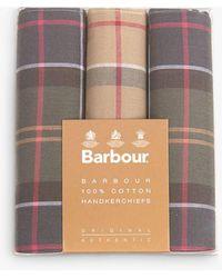 Barbour Tartan Check Cotton Handkerchiefs - Multicolour