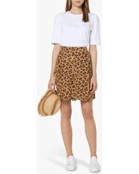 L.K.Bennett Roman Leopard Print Shorts - Brown